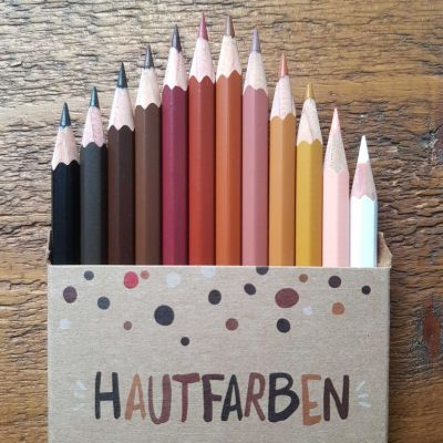 Hautfarbenbuntstifte 'So bunt ist die Schweiz'